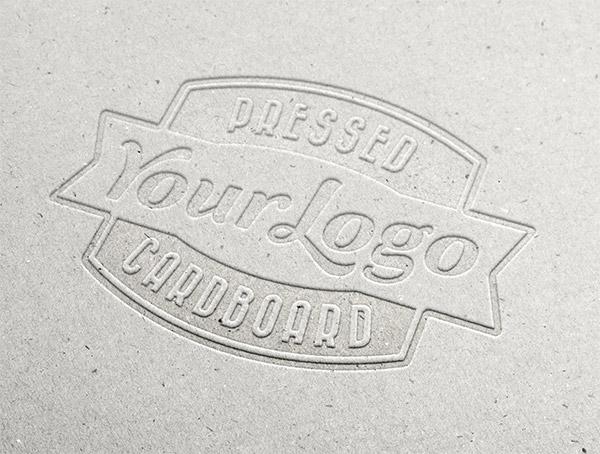 Download Logo Mockup PSD Terbaru Gratis - Pressed Cardboard Logo Mockup
