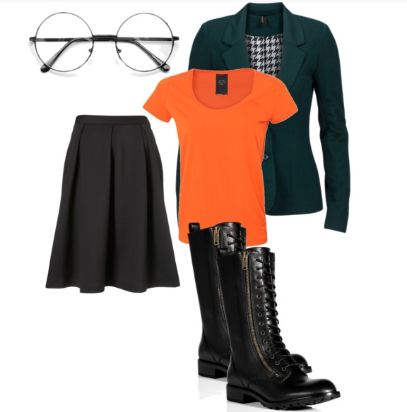 ... these costumes actually) so pair up a green blazer orange shirt black pleated skirt combat boots and some round glasses to complete the Daria look!  sc 1 st  Fifteen Minutes with you & Halloween Costume Ideas