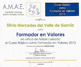 Certificación como formador de valores
