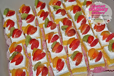 Fresh Fruit Slice Cake 36pcs
