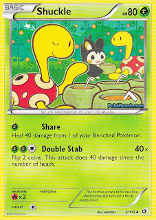 Shuckle Legendary Treasures Pokemon Card