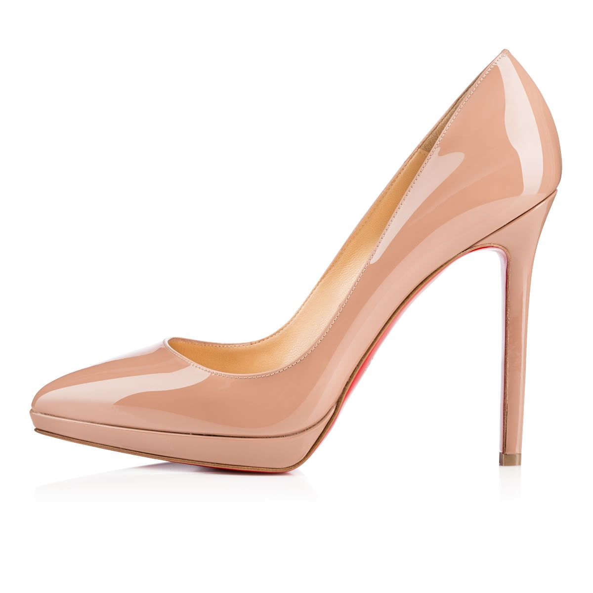 bd14f708d35e CHRISTIAN LOUBOUTIN PIGALLE PLATO 120MM NUDE PATENT - Reed Fashion Blog