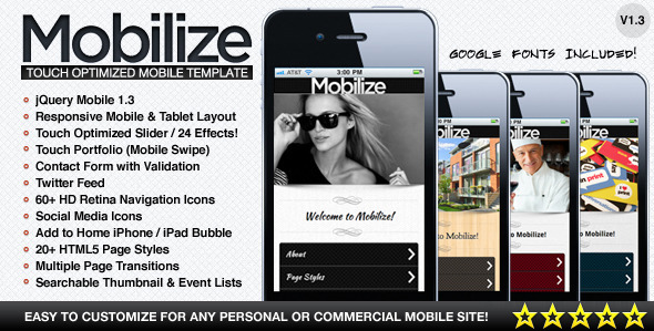 ThemeForest - Mobilize - Touch Optimized Mobile Template