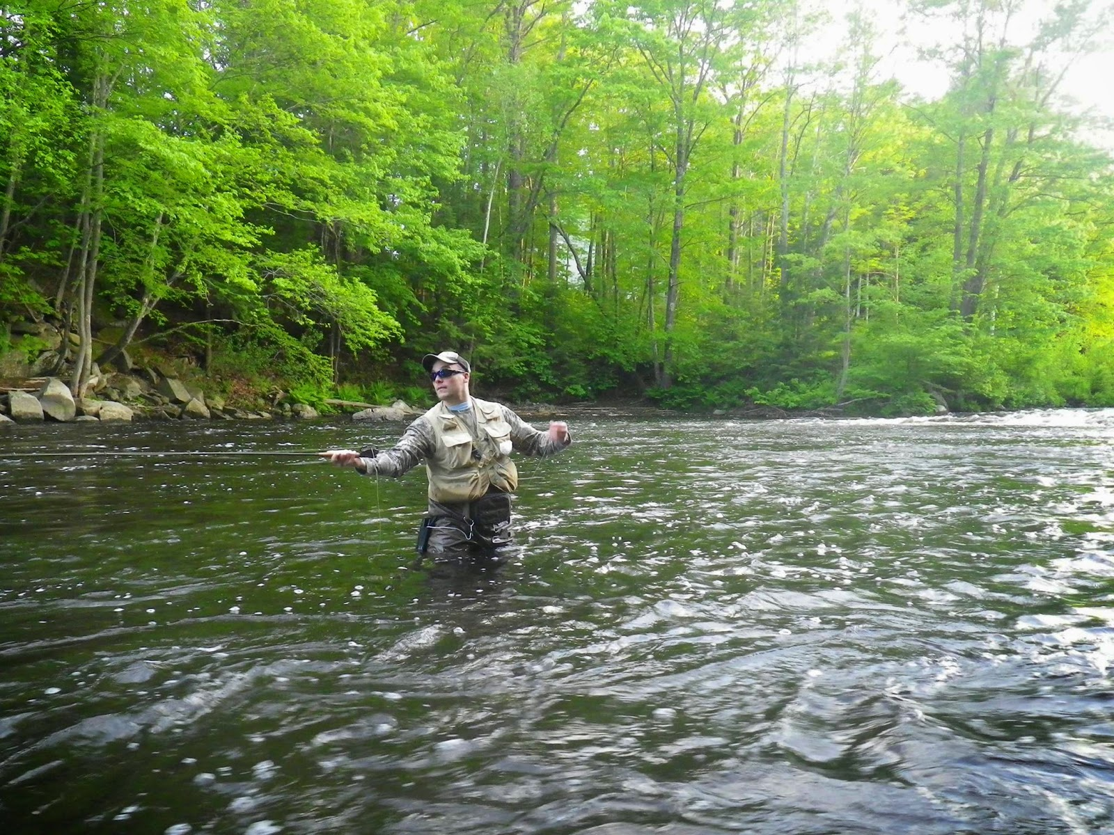 First cast fly fishing fly fishing lessons new hampshire for Fly fishing classes