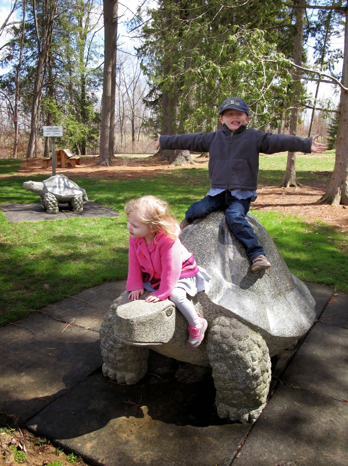 Porter & Stella at Secrest Arboretum