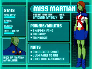 Super poderes da Miss Martian