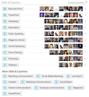LinkedIn skills endorsements, LinkedIn skills and expertise endorsements,