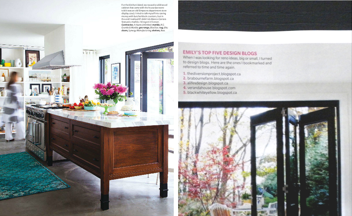 Home of Emily Norris from House and Home Magazineand a blog Mention