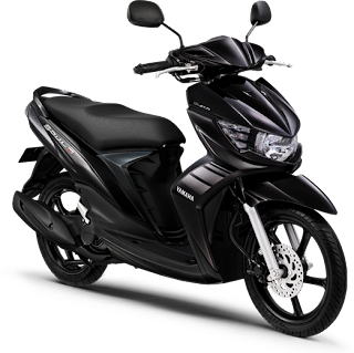 Gambar Motor Yamaha Mio Soul GT hitam (Sirius Black)