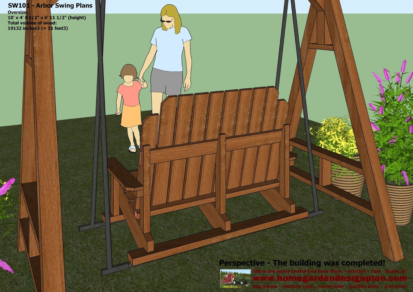 My Project Arbor Plans With Swing - garden swing designs