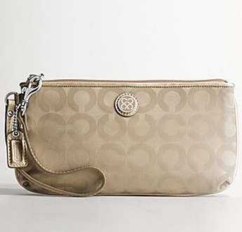 Coach Julia Nylon Go Go Large Wristlet 45381