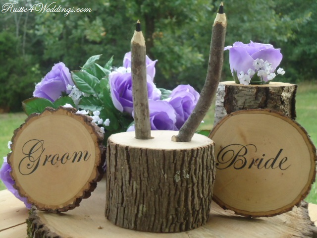 Rustic 4 weddings june 2013 this listing is for the 2 tree branch pens and a log holder only other items in photos may be available at an additional cost and are not included in junglespirit Gallery