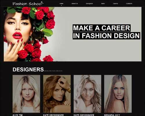 Fashion Design School Premium Responsive Joomla Template