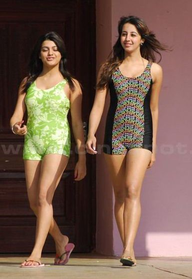 South Hot Sanjana and Thashu Spicy Bikini Shoot in Dussasana wallpapers