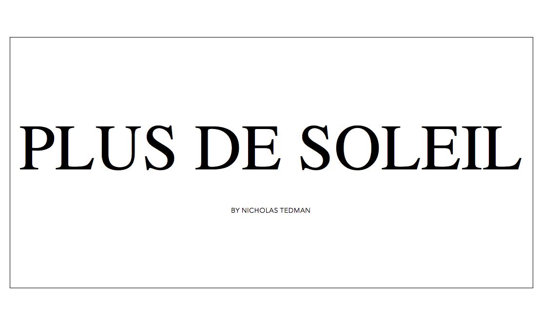 PLUS DE SOLEIL