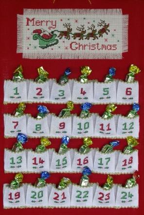 how to make a cloth advent calendar
