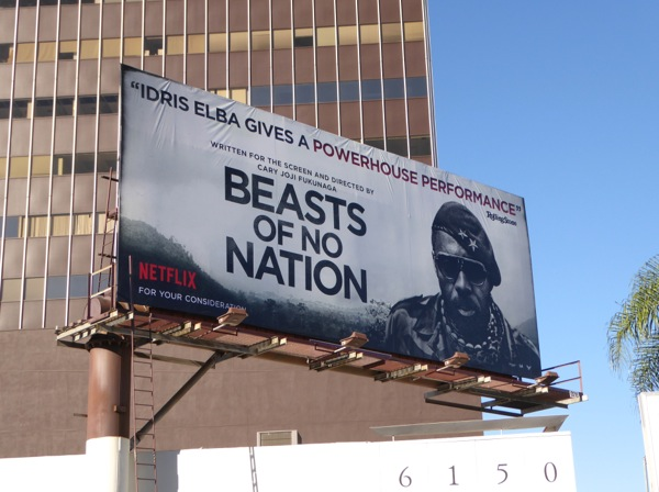 Beasts of No Nation Idris Elba FYC billboard