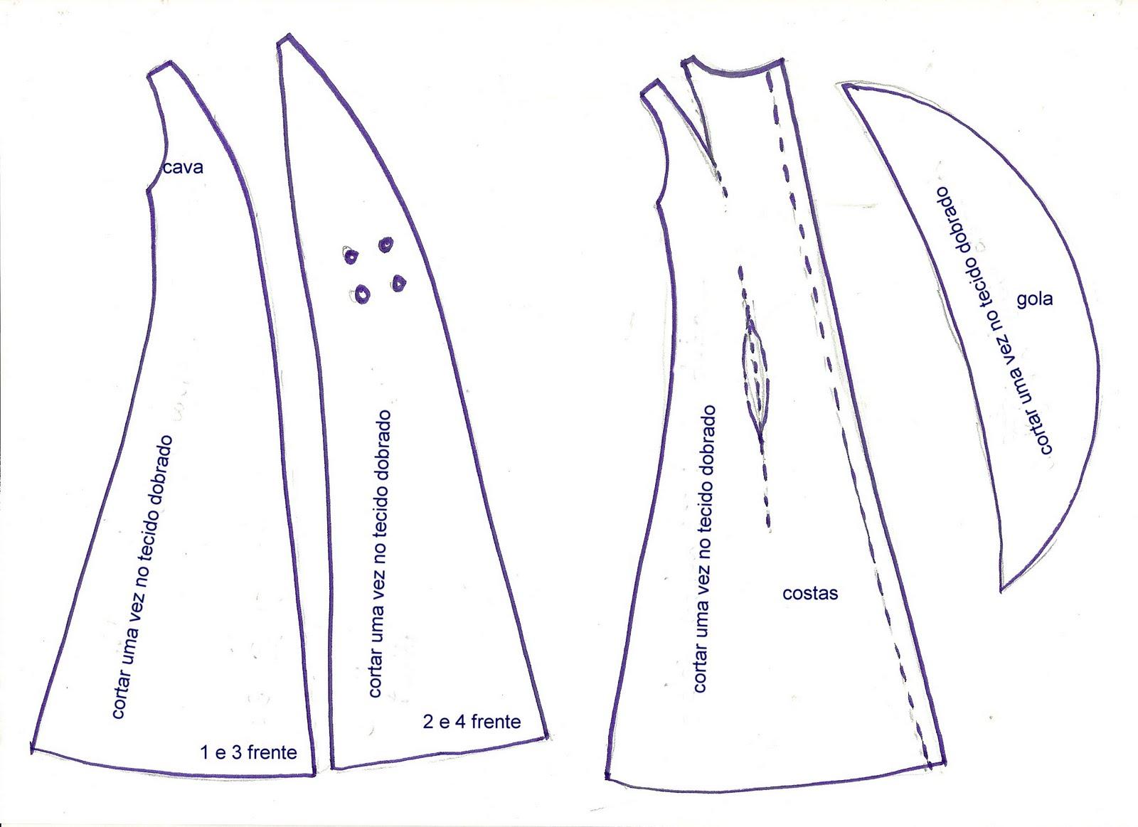 Moldes vestidos - Imagui