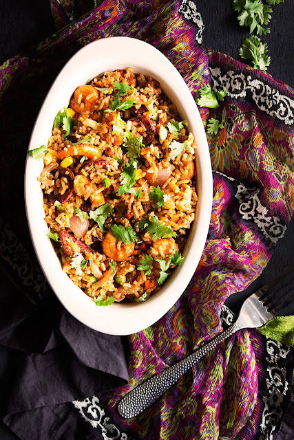 prawns and chorizo fried rice