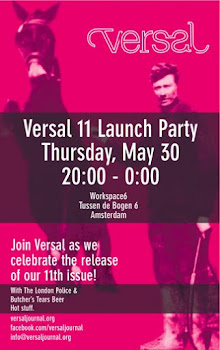VERSAL 11 OUT MAY 30th 2013: From Amsterdam, click for special subscription offer!-JKD, a poetry ed