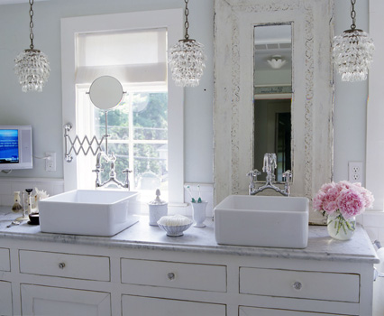 Topsecret deco estilo shabby chic - Small crystal chandelier for bathroom ...