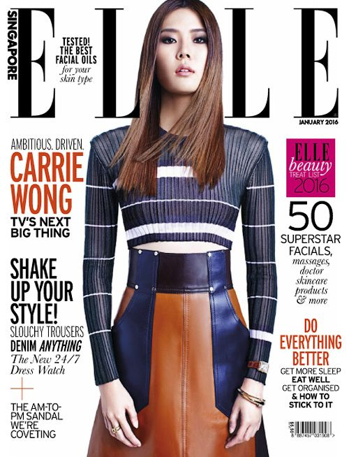 Actress, Model, @ Carrie Wong for Elle Singapore, January 2016