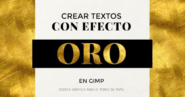 texto con efecto oro en Gimp
