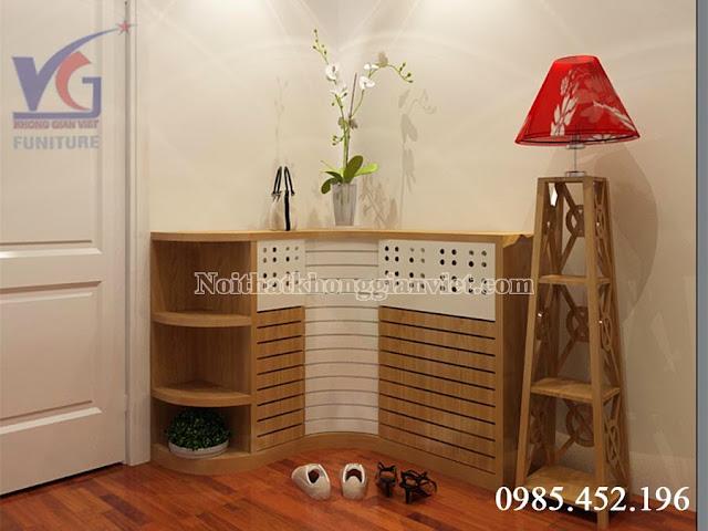 Tủ giày đa năng gỗ xoan đào