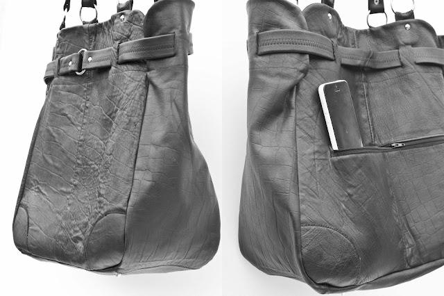 sac voyage cuir noir etsy