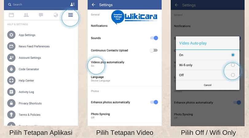 Cara Matikan Video Facebook Dimainkan Secara Automatik