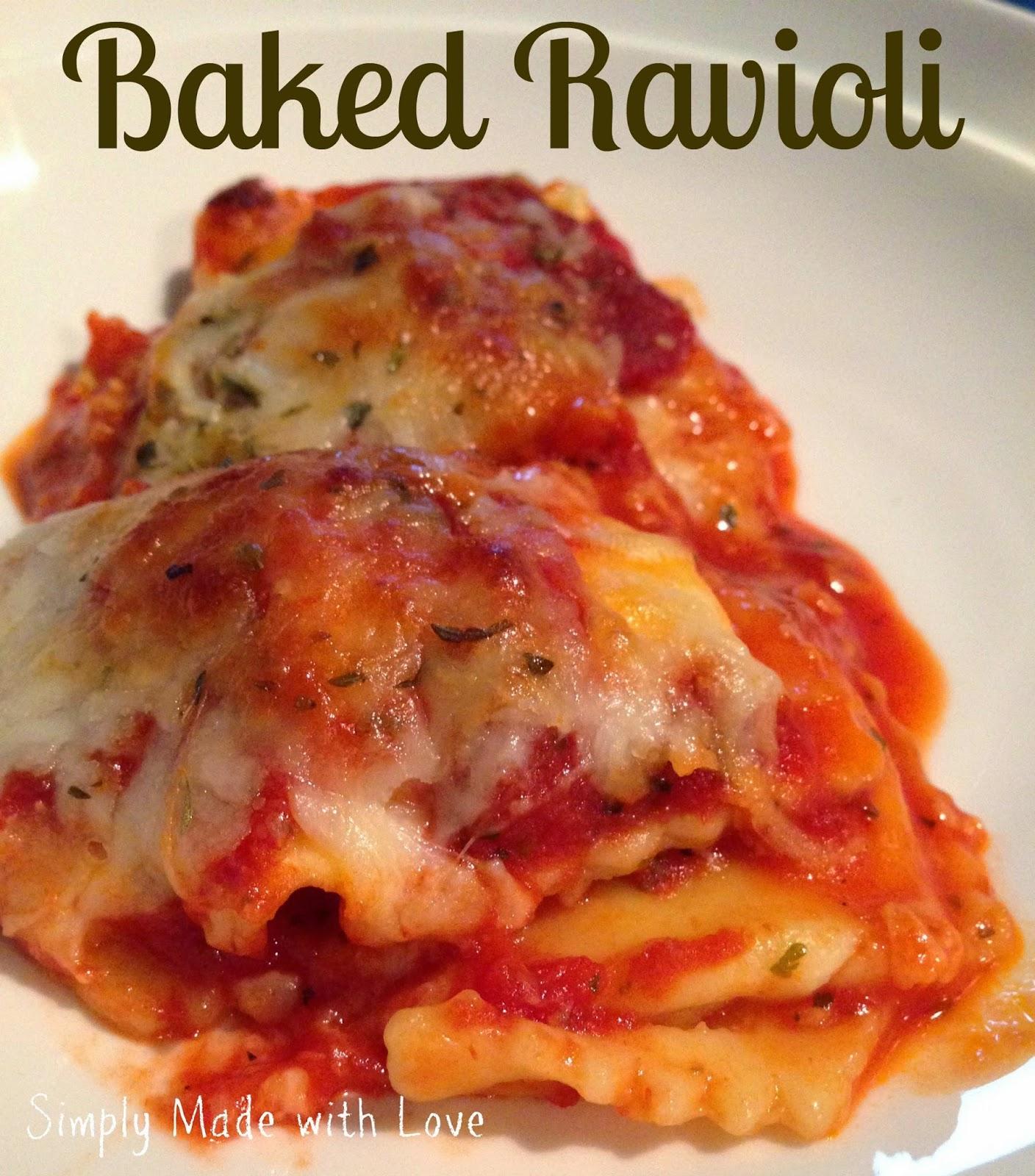 Easy Baked Ravioli