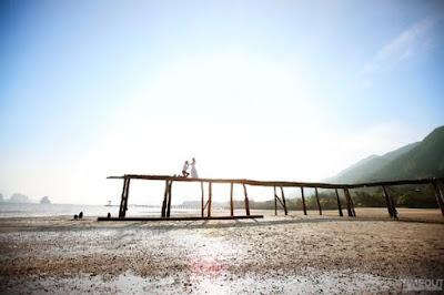Những hòn đảo tuyệt đẹp, những bãi cát phẳng trắng mịn kéo khiến Vân Đồn trở thành địa điểm chụp ảnh cưới lý tưởng