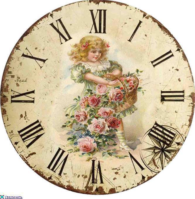Vintage clocks little girls inspiration clocks face - Reloj pared vintage ...