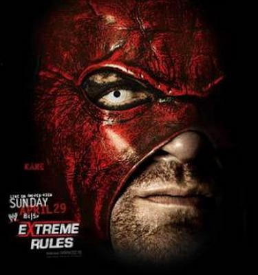 foto de la super estrella kane en el poster del ppv reglas extremas