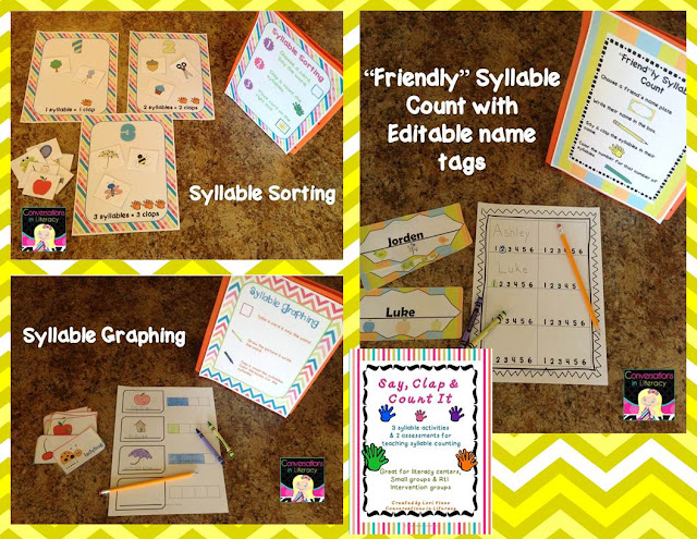 counting syllables activities and assessments