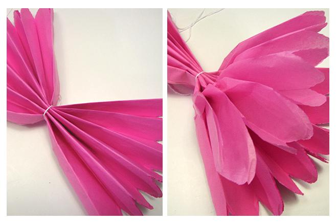 Bulub pompones de papel de seda - Como se hacen flores de papel ...