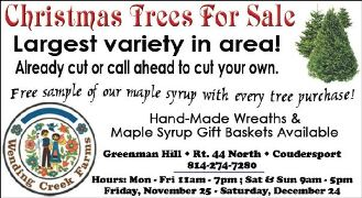 Tree Sale Starts Friday Thru Dec. 24th