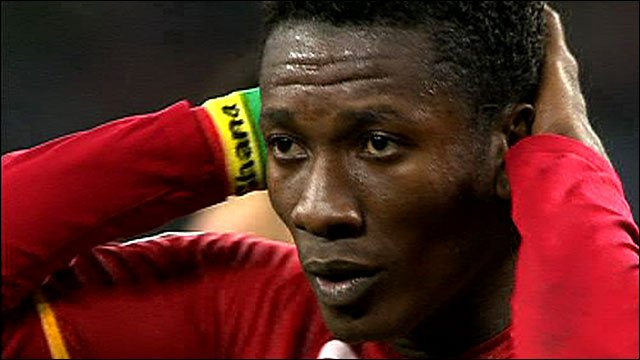 Asamoah Gyan to miss Ghana's clash against Egypt