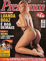 Confira as fotos da delicia dos pornos,  Luanda Boaz, capa da Sexy Premium de Abril de 2005!