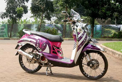 modifikasi motor honda scoopy Racing Look Style