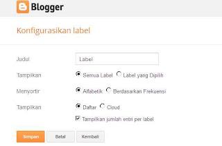 Cara Membuat Label Blog Menjadi Menu