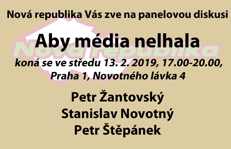 Panelová Diskuze 13. 2. 2019