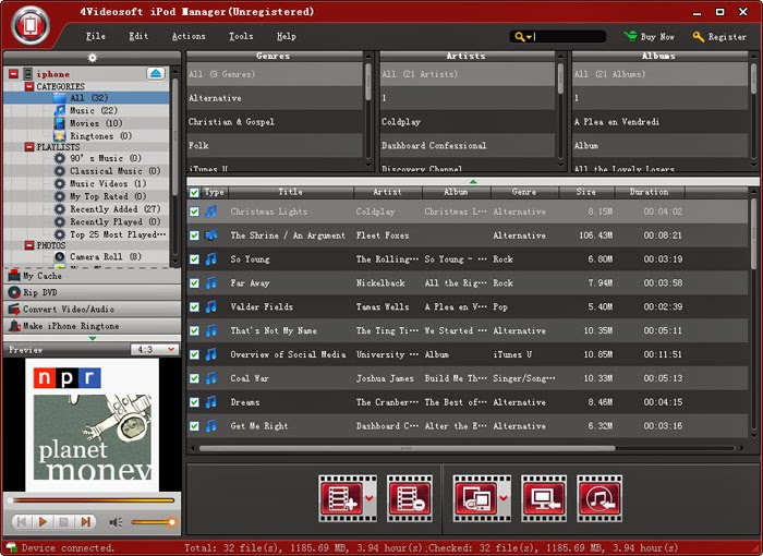 ����� ������ 4Videosoft iPod Manager