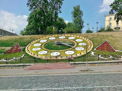 Цветочные часы с цветами каштана