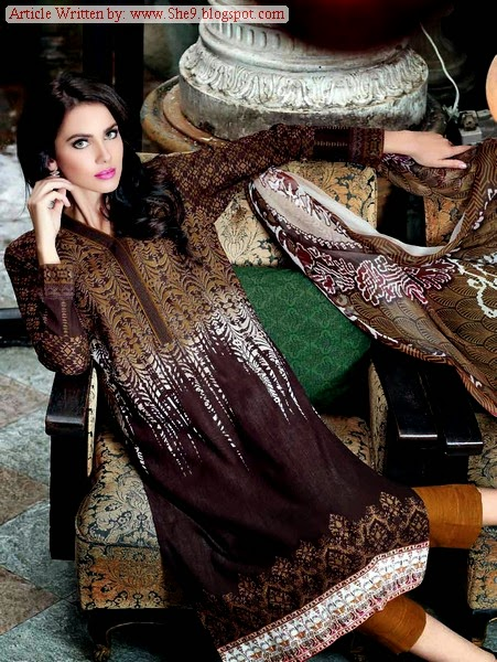 Gul Ahmed Winter Khaddar Dress Collection 2014