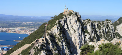 Gibraltar, view of the Upper Rock Nature Reserve