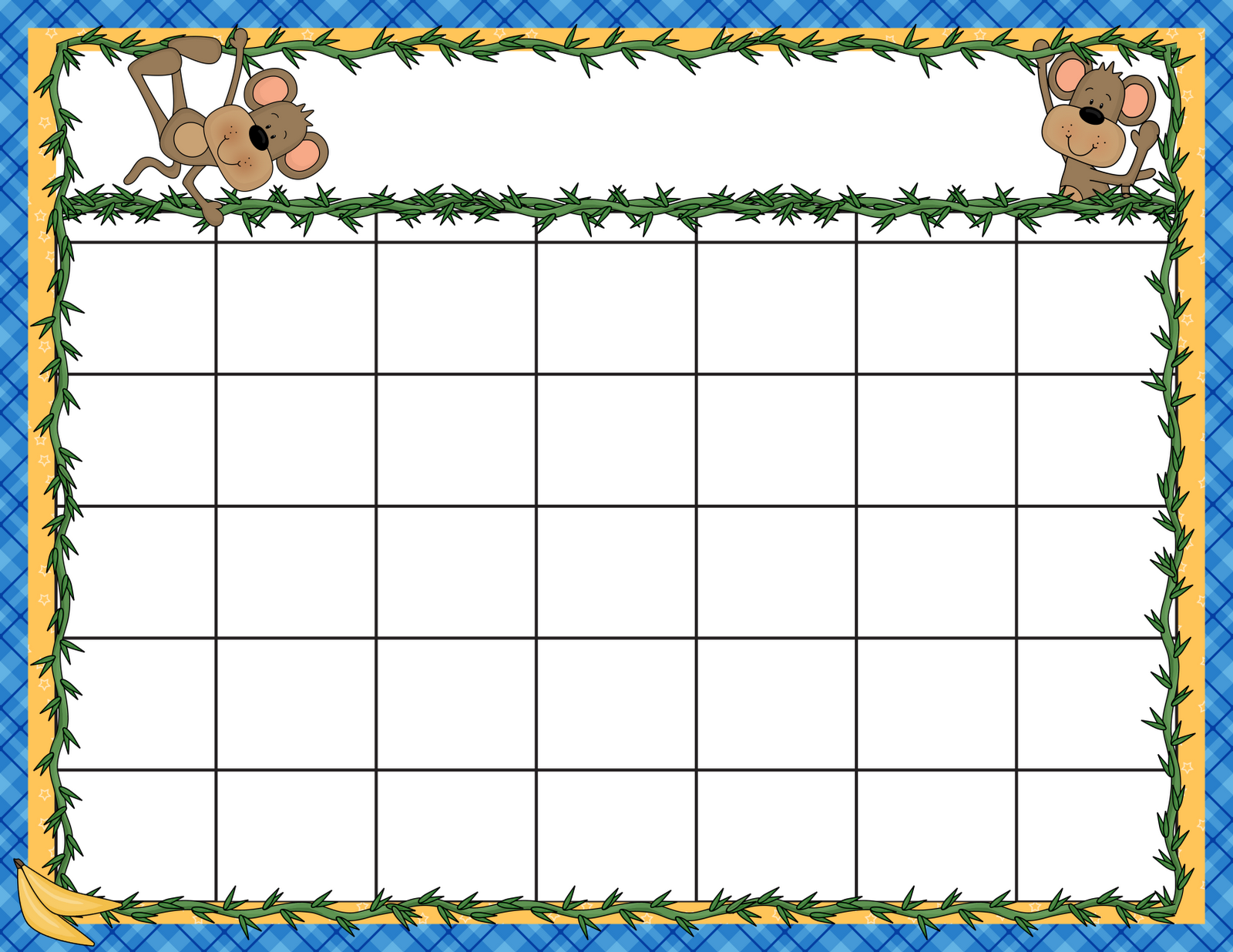 Art Calendar Template : Little adventures preschool calendar and plans