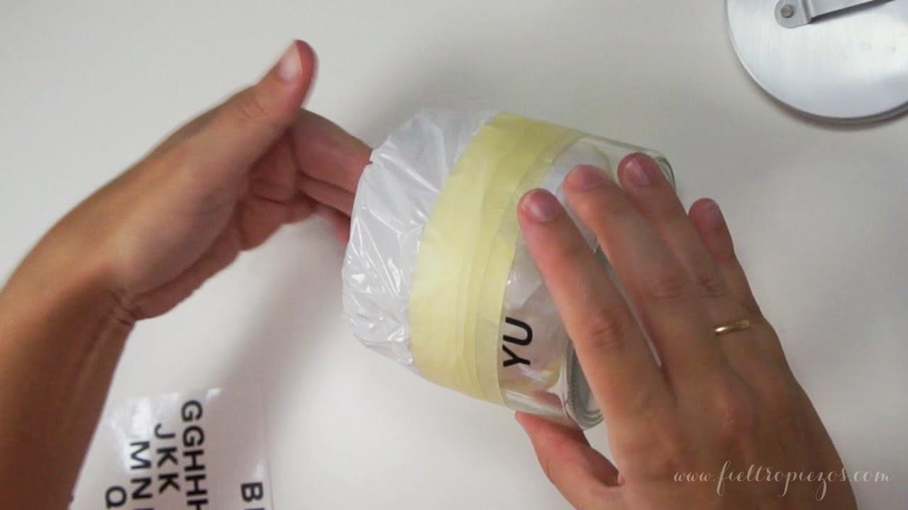 preparar el tarro de cristal