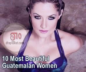 Top 10 Most Beautiful Guatemalan Women