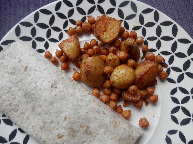 Easy vegan potato recipes. Paprika potato wedges, potato cakes and chili roast potatoes with chick peas. secondhandsusie.blogspot.co.uk #ukvegan #veganblogger #veganlifemagazine